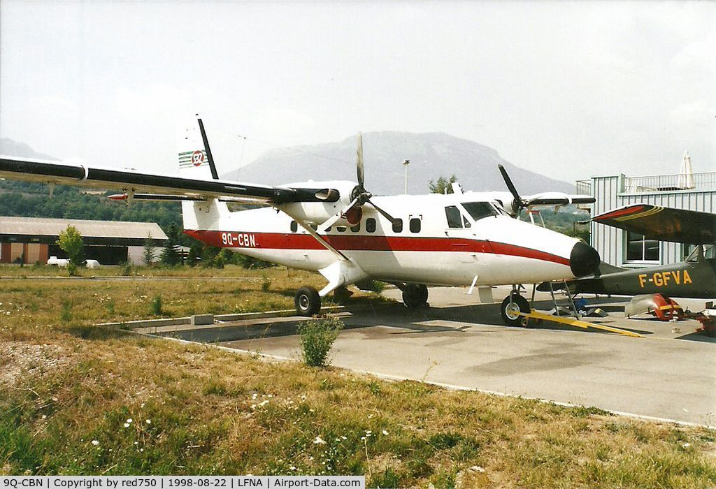9Q-CBN, 1977 De Havilland Canada DHC-6-300 Twin Otter C/N 513, Photograph by Edwin van Opstal with permission. Scanned from a color print.