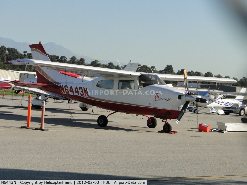 N6443N, 1978 Cessna T210N Turbo Centurion C/N 21063019, Parked on the south west side