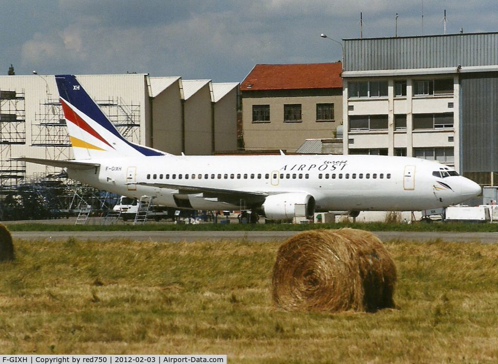 F-GIXH, 1987 Boeing 737-353 C/N 23788, Photograph by Edwin van Opstal with permission. Scanned from a color print.