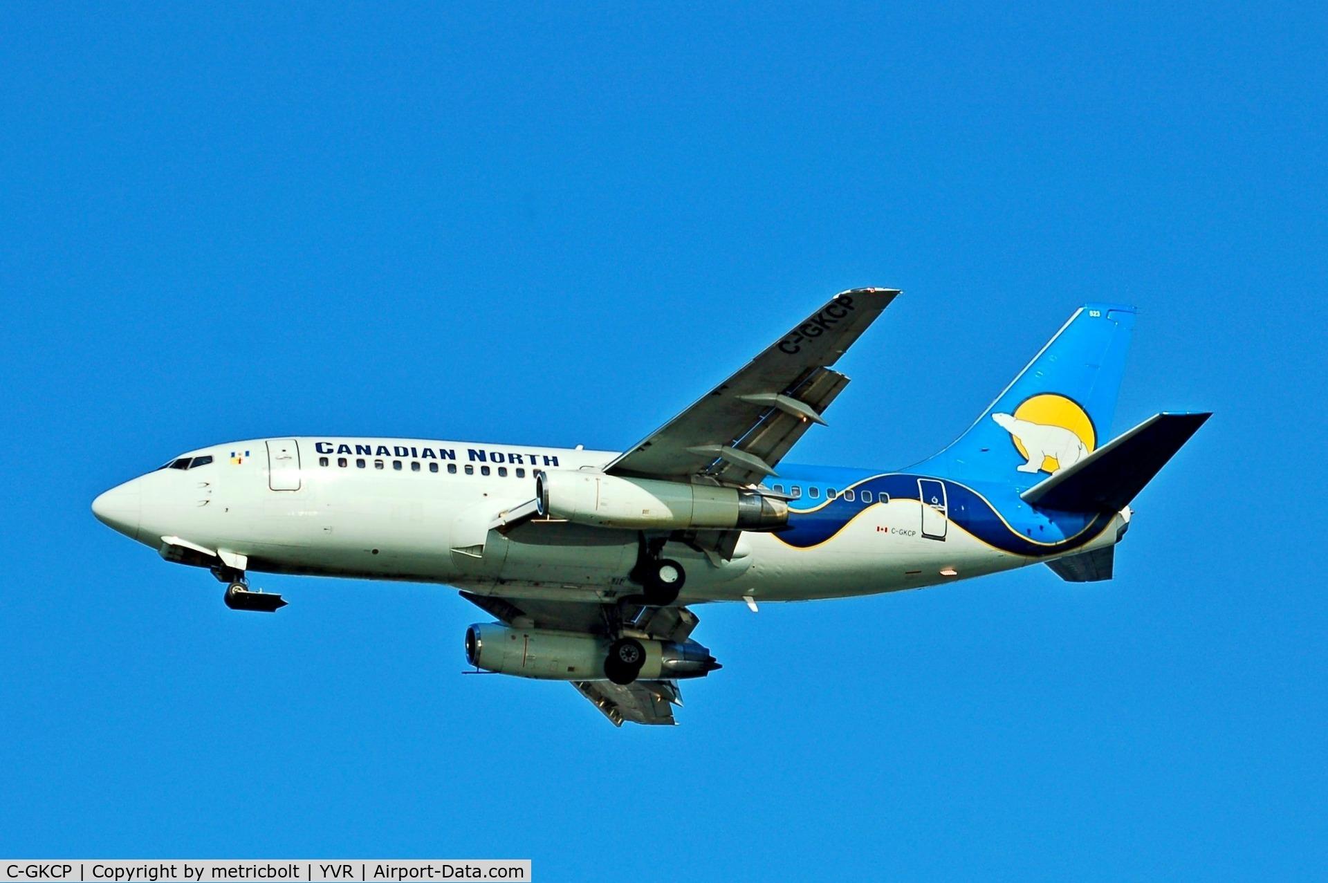 C-GKCP, 1982 Boeing 737-217 C/N 22729, Landing at YVR