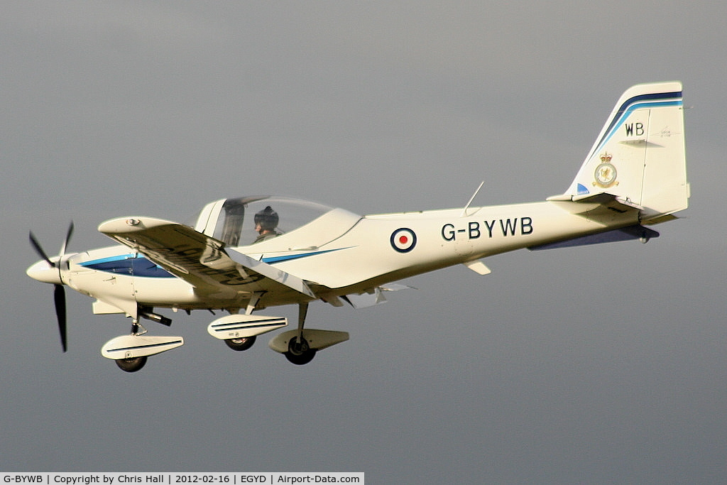 G-BYWB, 2000 Grob G-115E Tutor T1 C/N 82137/E, 16(R) Sqn of the Elementary Flying Training School based at RAF Cranwell