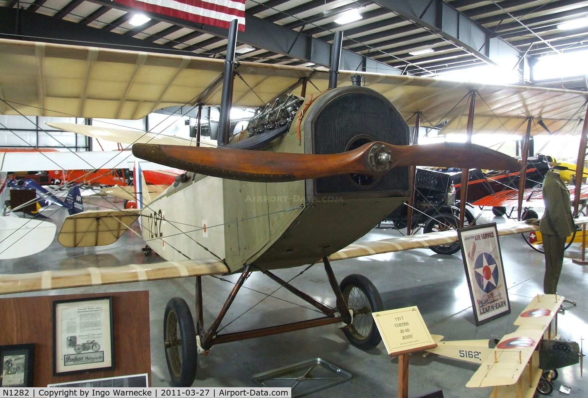 N1282, 1917 Curtiss JN-4D Jenny C/N 1, Curtiss JN-4D at the Western Antique Aeroplane and Automobile Museum, Hood River OR