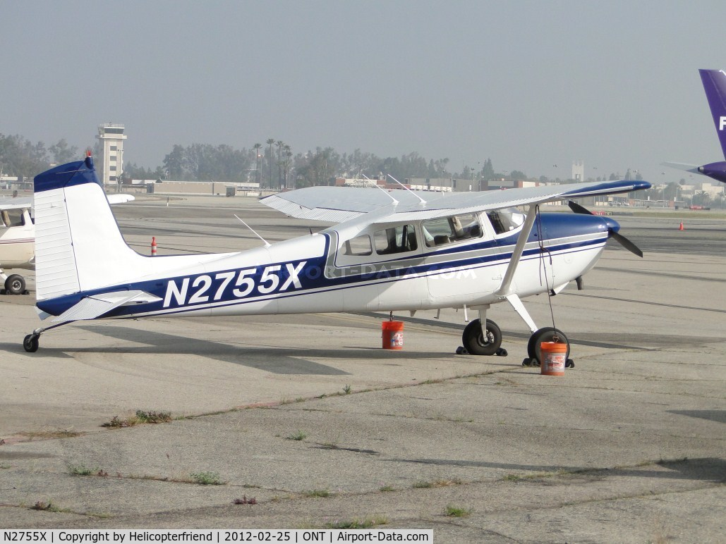 N2755X, 1965 Cessna 180H Skywagon C/N 18051555, Parked on the south west