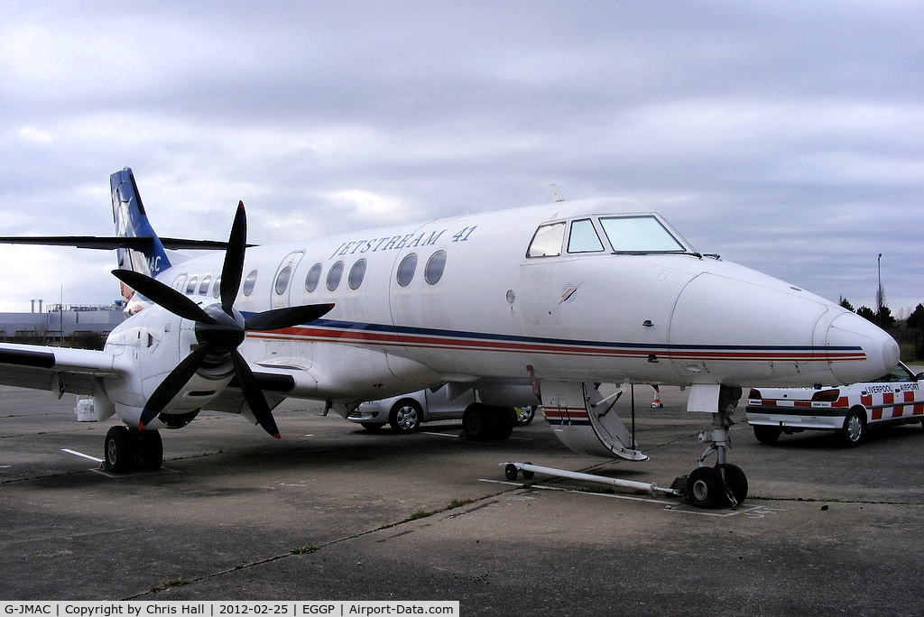 G-JMAC, 1992 British Aerospace Jetstream 41 C/N 41004, preserved at Speke by the Speke Aerodrome Heritage Group (SAHG)