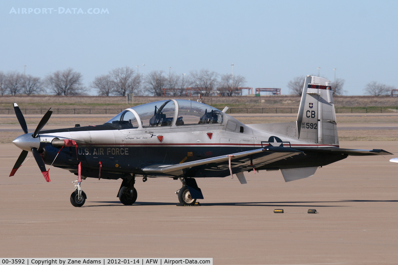 00-3592, 2000 Raytheon T-6A Texan II C/N PT-98, At Alliance Airport - Fort Worth, TX