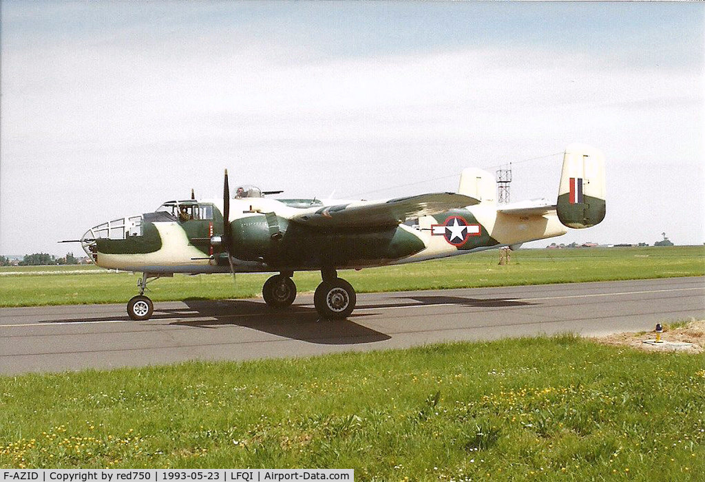 F-AZID, 1945 North American B-25J Mitchell C/N 108-47562, Photograph by Edwin van Opstal with permission. Scanned from a color print.