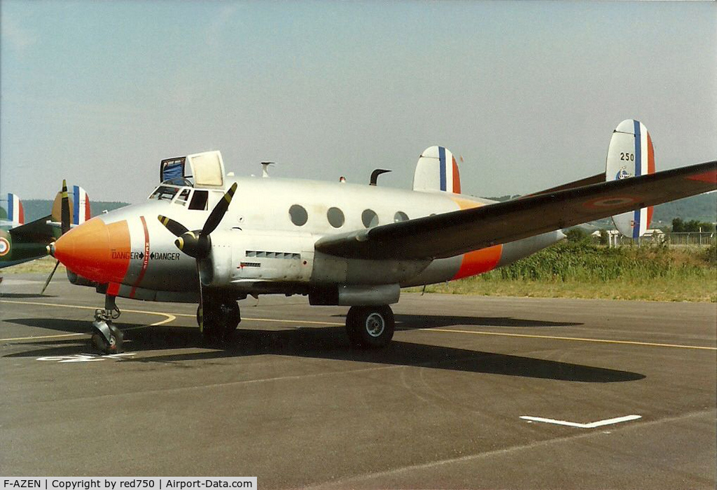 F-AZEN, Dassault MD-312 Flamant C/N 250, Photograph by Edwin van Opstal with permission. Scanned from a color print.