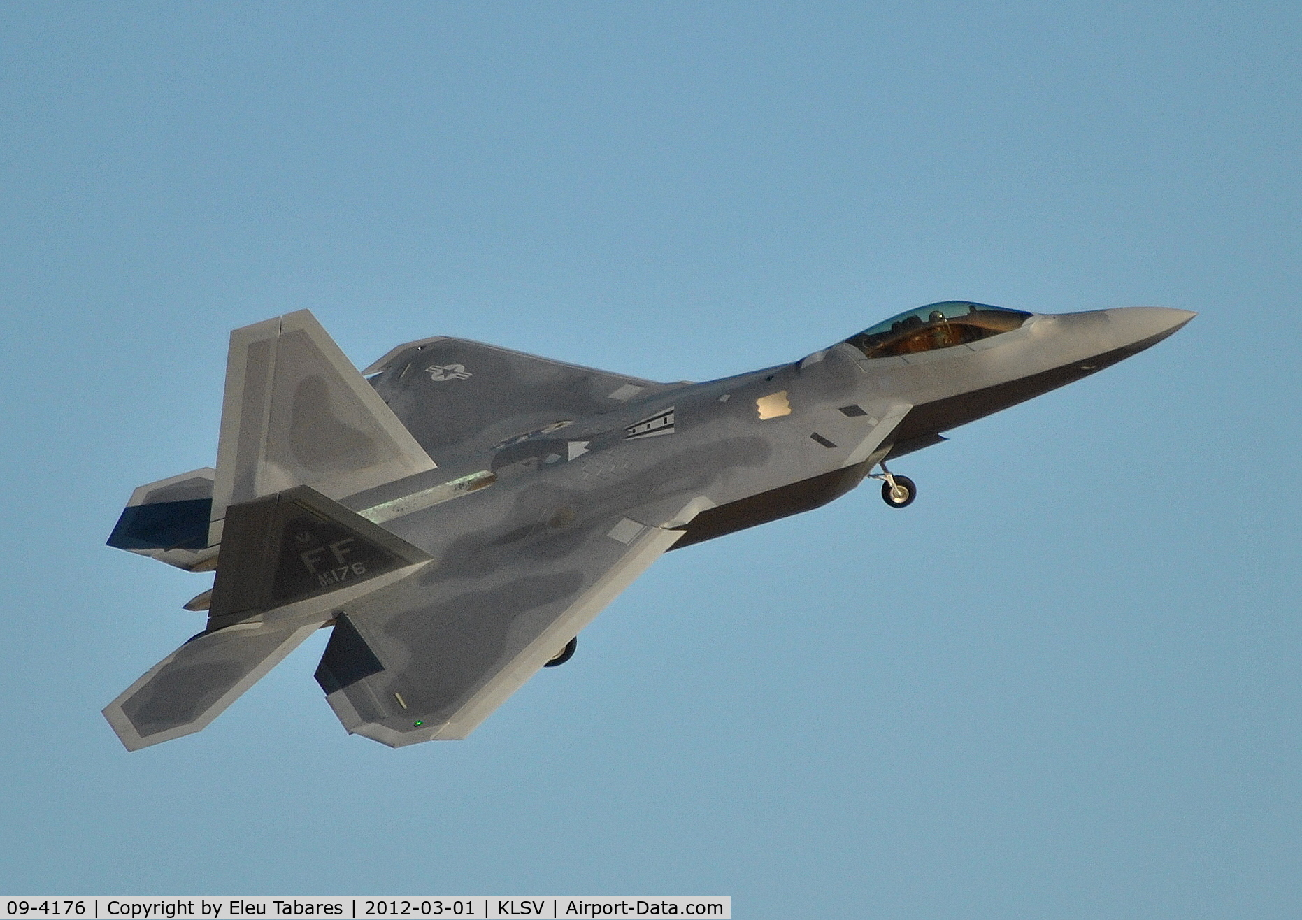09-4176, Lockheed Martin F-22A Raptor C/N 4176, Taken during Red Flag Exercise at Nellis Air Force Base, Nevada.