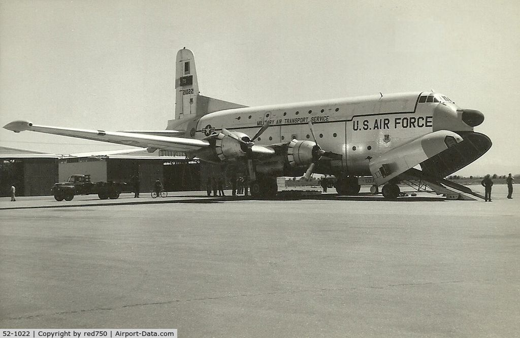 52-1022, Douglas C-124C Globemaster II C/N 43931, This image was scanned from a b&w print taken some time in the late 1950's or early 1960's, at the former RAAF base Laverton Vic.