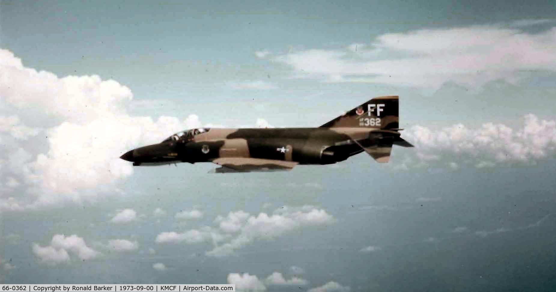 66-0362, 1966 McDonnell F-4E Phantom II C/N 2740, MacDill Sep 1973