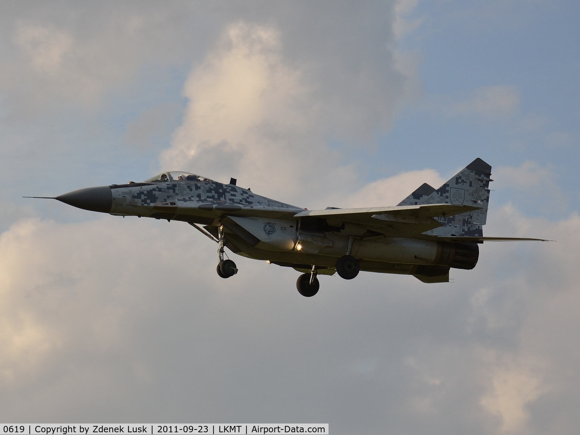 0619, Mikoyan-Gurevich MiG-29AS C/N 2960535406/4713, Arrival to Days of NATO 2011 event.