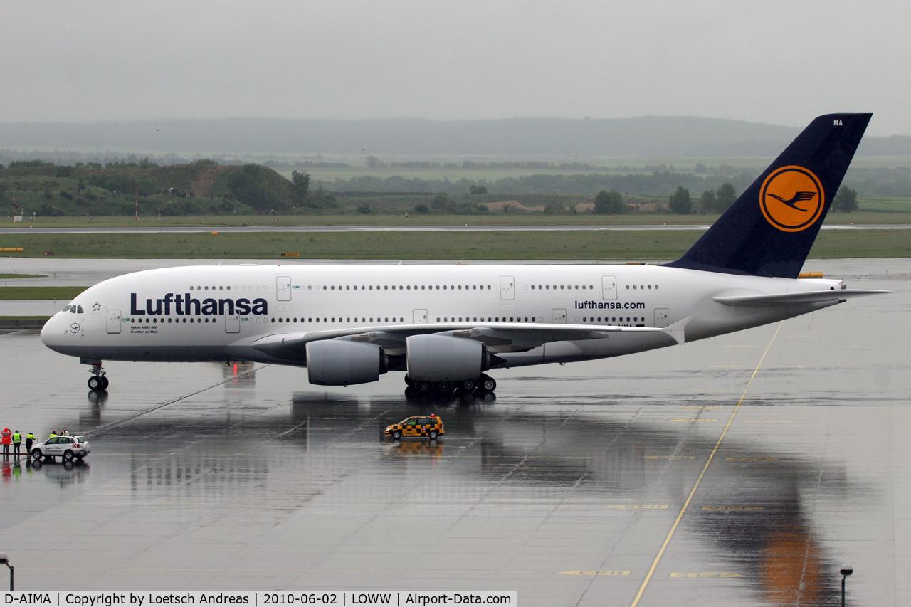 D-AIMA, 2010 Airbus A380-841 C/N 038, DLH Trainingsflight to VIE