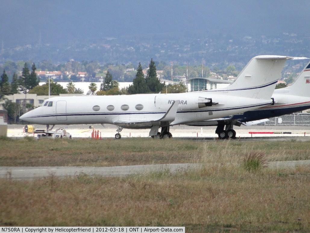 N750RA, 1972 Grumman G-1159 Gulfstream II C/N 117, Parked south of runway 26L