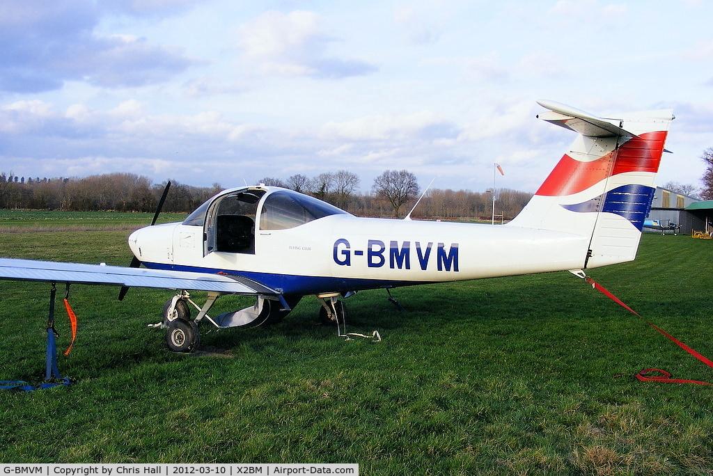 G-BMVM, 1979 Piper PA-38-112 Tomahawk Tomahawk C/N 38-79A0025, at Lower Wasing Farm, Brimpton