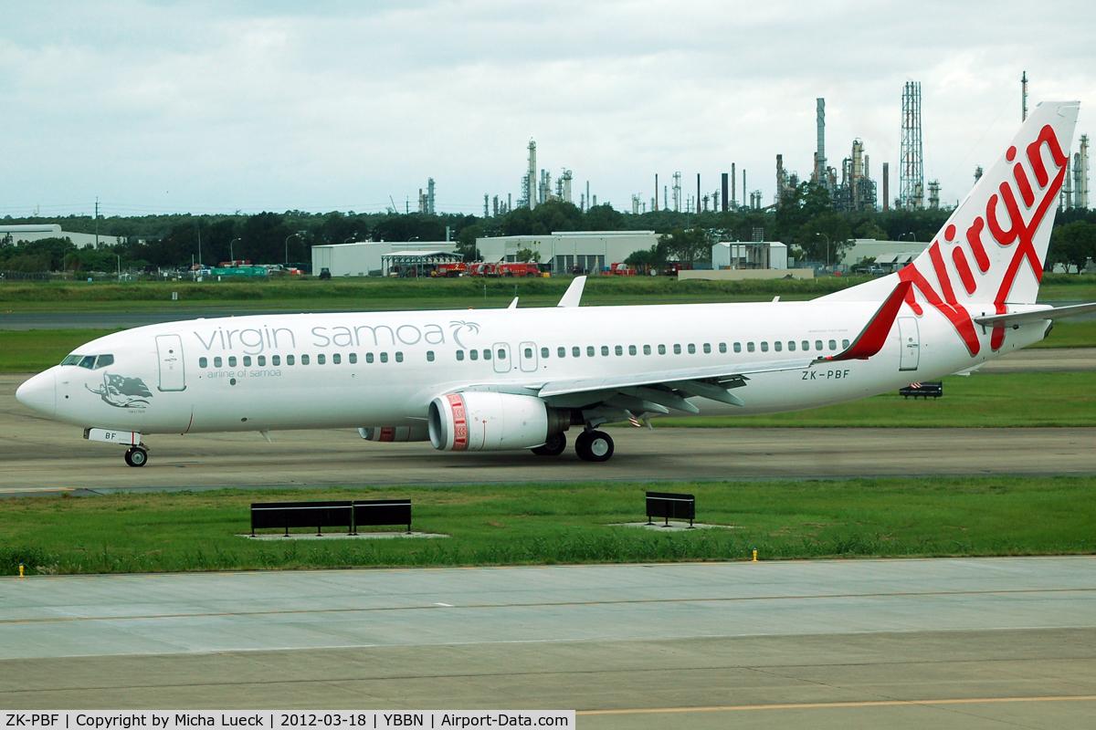 ZK-PBF, 2004 Boeing 737-8FE C/N 33799, At Brisbane