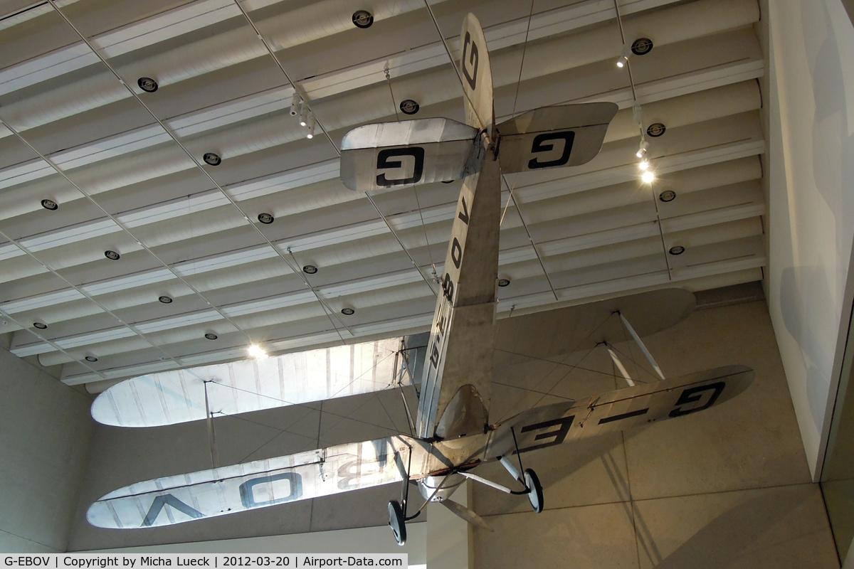 G-EBOV, 1926 Avro 581 Avian C/N 5116, At the Museum of Queensland, Brisbane