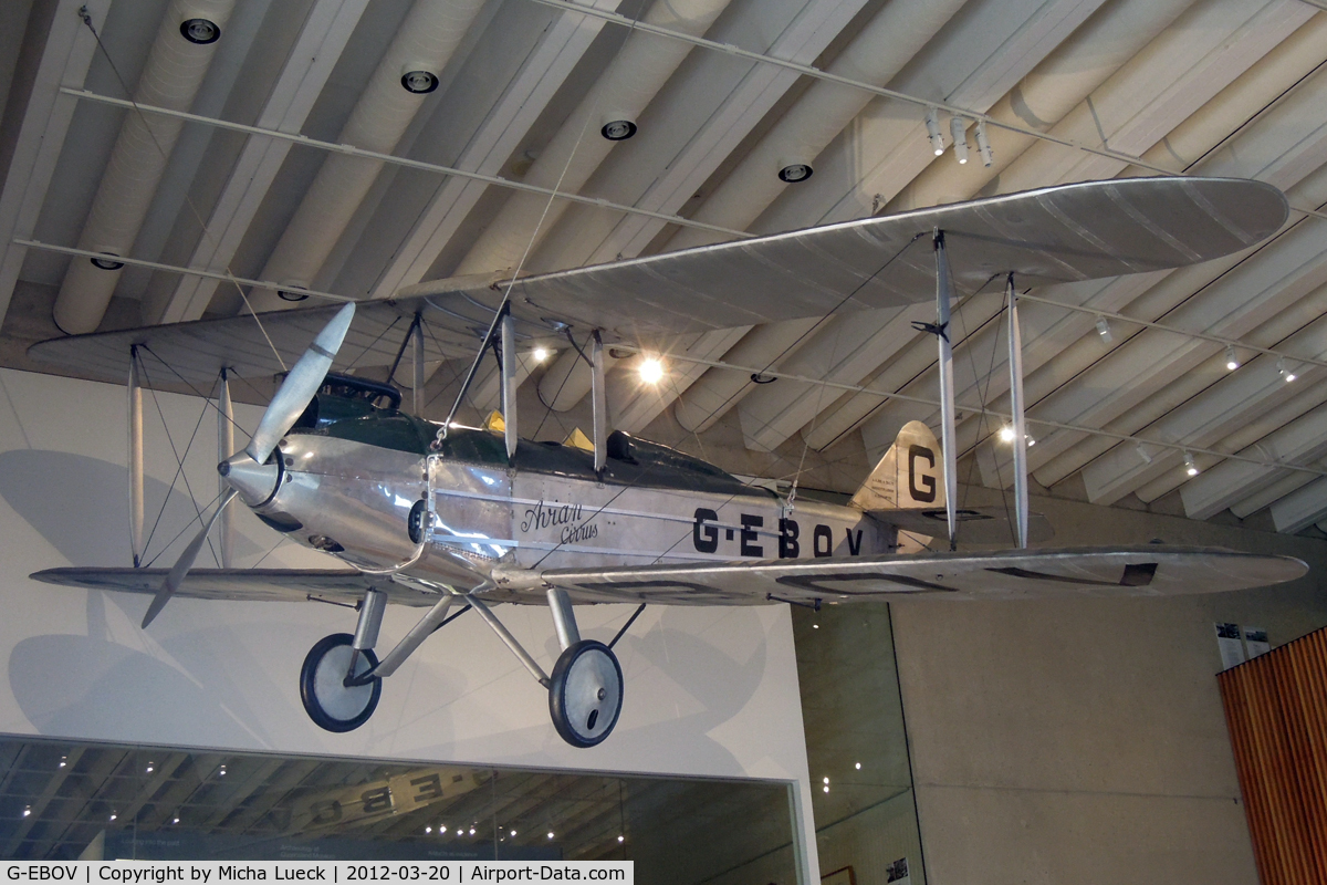 G-EBOV, 1926 Avro 581 Avian C/N 5116, At the Museum of Queensland, Brisbane