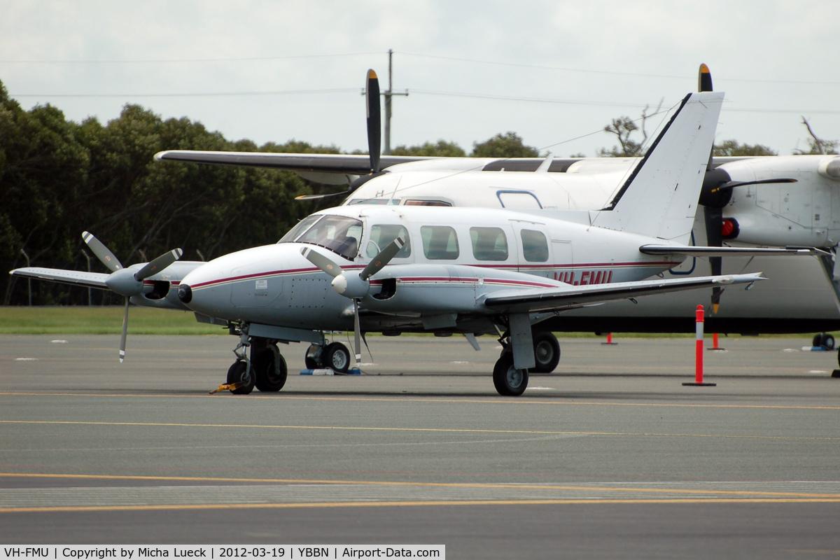 VH-FMU, 1982 Piper PA-31-310 Navajo Navajo C/N 31-8212015, At Brisbane
