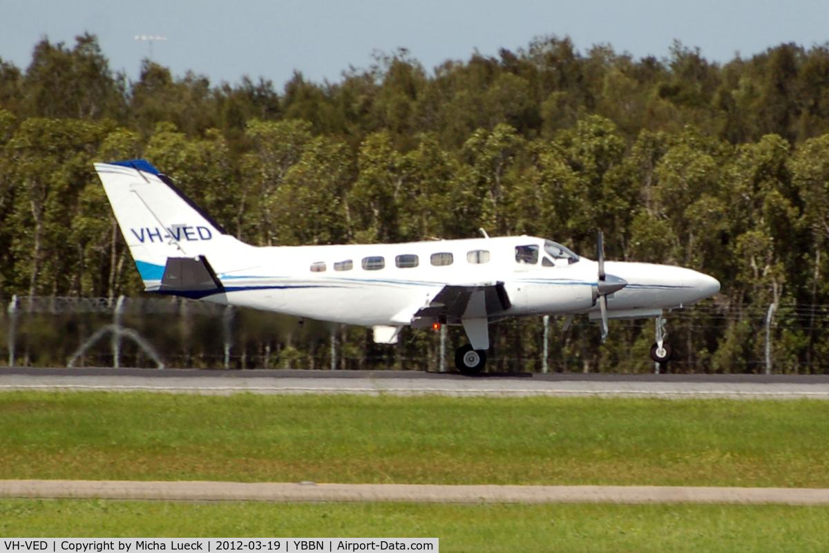 VH-VED, 1981 Cessna 441 Conquest II C/N 441-0272, At Brisbane