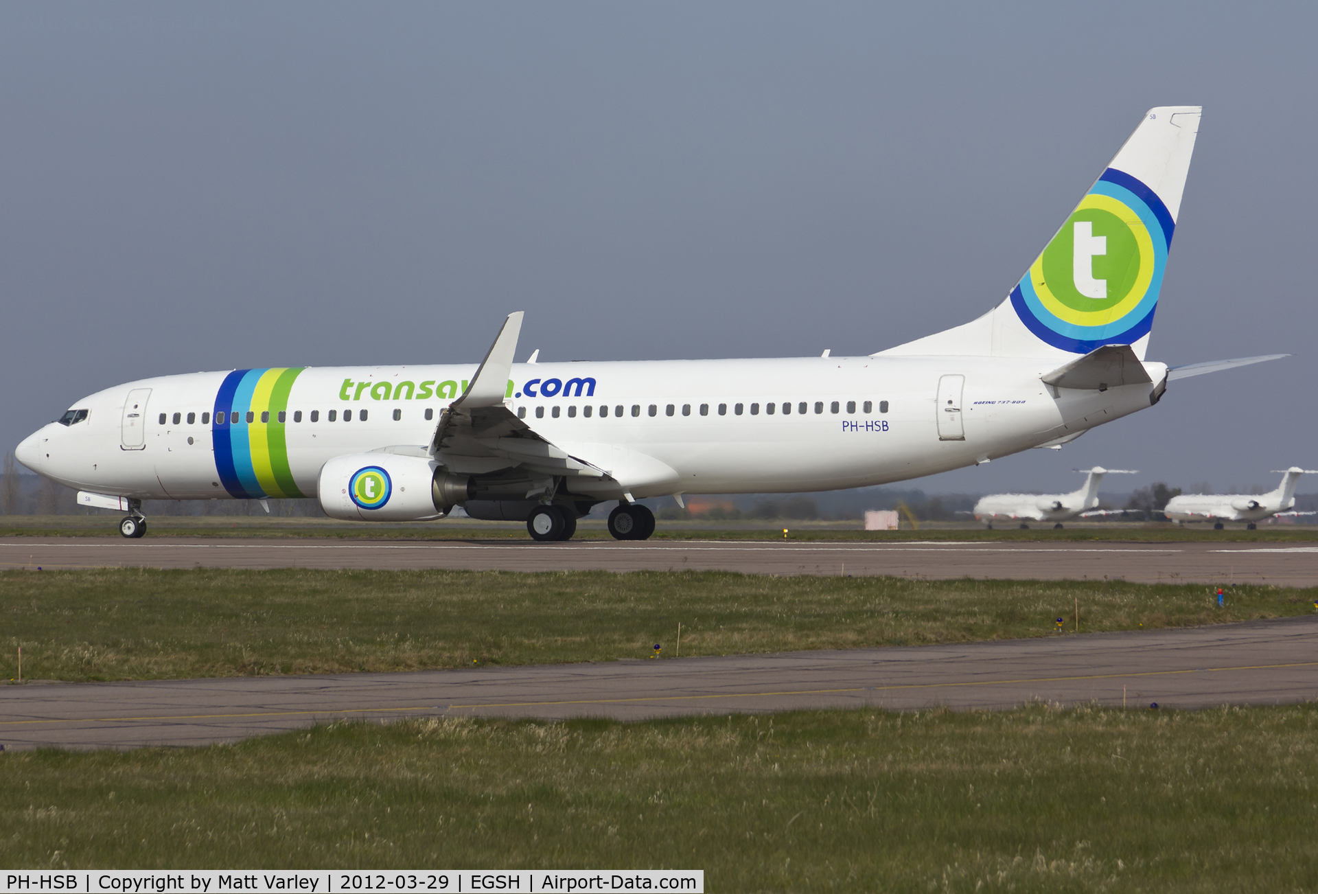 PH-HSB, 2010 Boeing 737-8K2 C/N 34172, Departing EGSH.