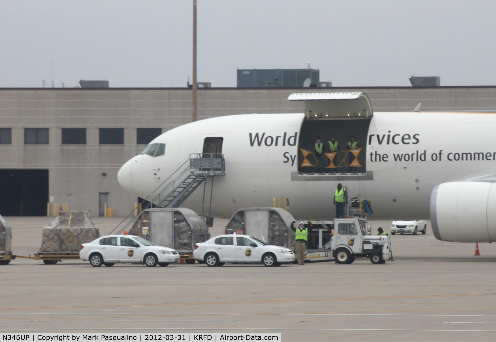 N346UP, Boeing 767-34AF C/N 37868, Boeing 767-300F