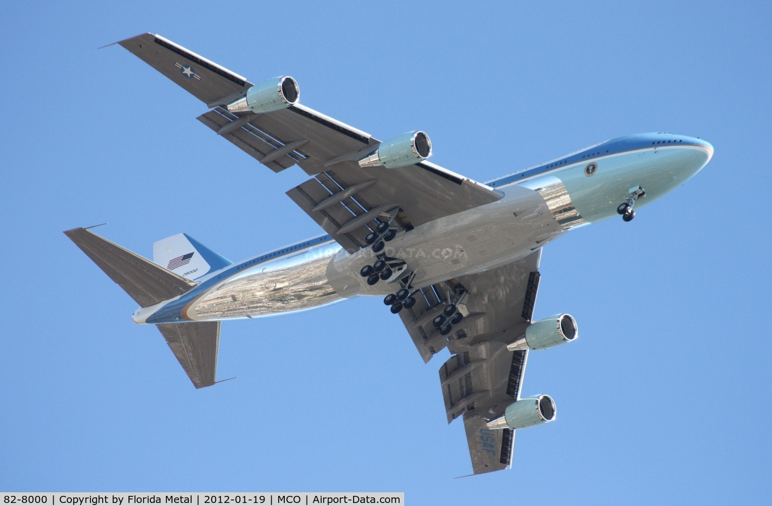 82-8000, 1988 Boeing VC-25A C/N 23824, Air Force One on approach