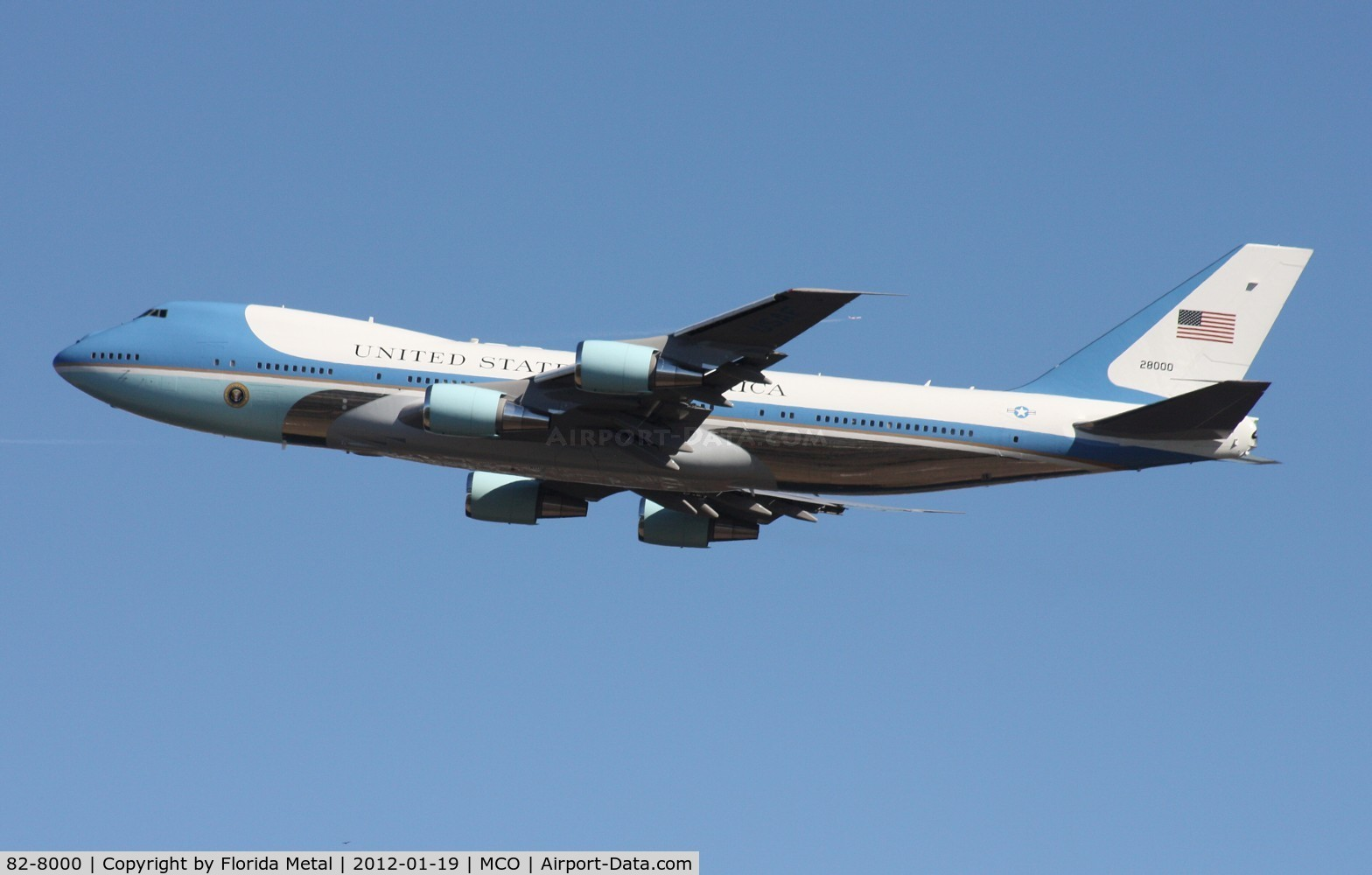 82-8000, 1988 Boeing VC-25A C/N 23824, Air Force One
