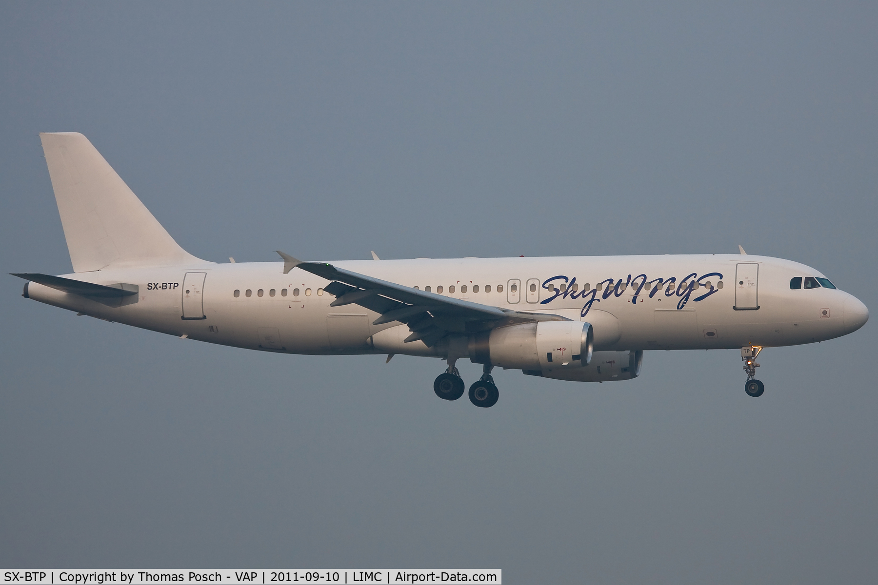 SX-BTP, 1992 Airbus A320-231 C/N 376, Sky Wings Airlines