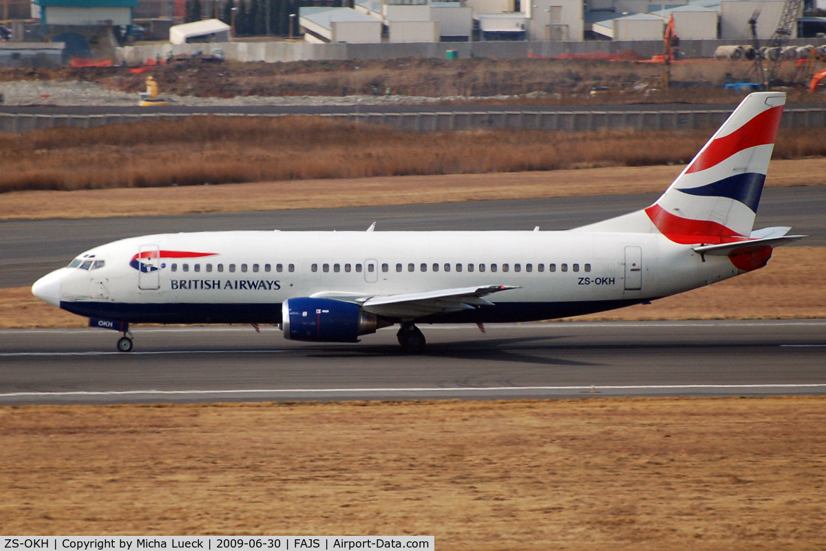 ZS-OKH, 1986 Boeing 737-376 C/N 23479, At Jo'burg
