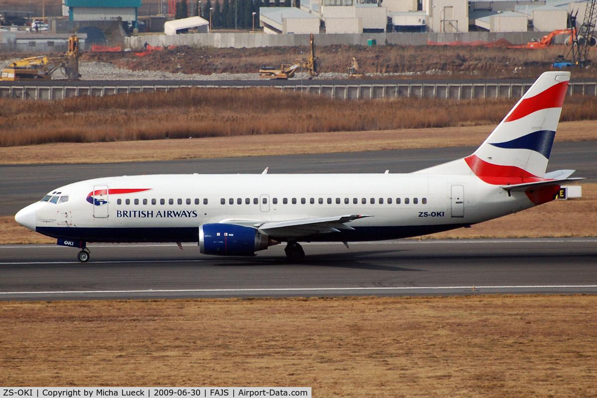 ZS-OKI, 1987 Boeing 737-376 C/N 23489, At Jo'burg