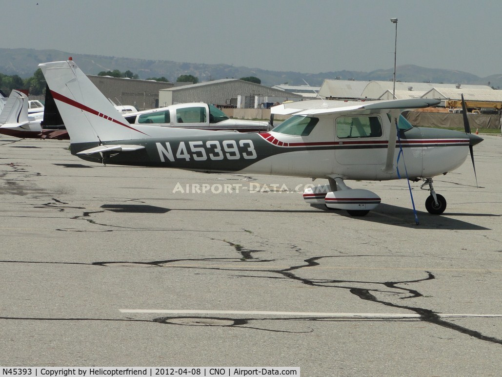 N45393, 1975 Cessna 150M C/N 15076900, Tied down and parked south of the tower