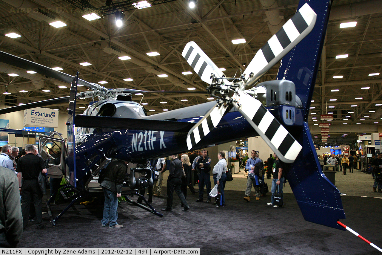 N211FX, Bell 429 C/N 57004, On display at Heli-Expo - 2012 - Dallas, Tx