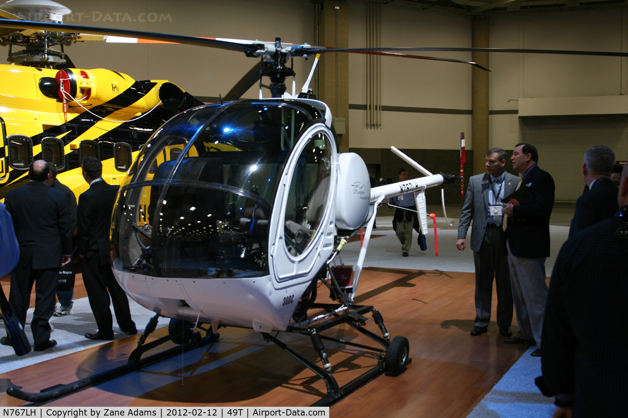 N767LH, 2007 Schweizer 269C C/N S1905, On display at Heli-Expo - 2012 - Dallas, Tx