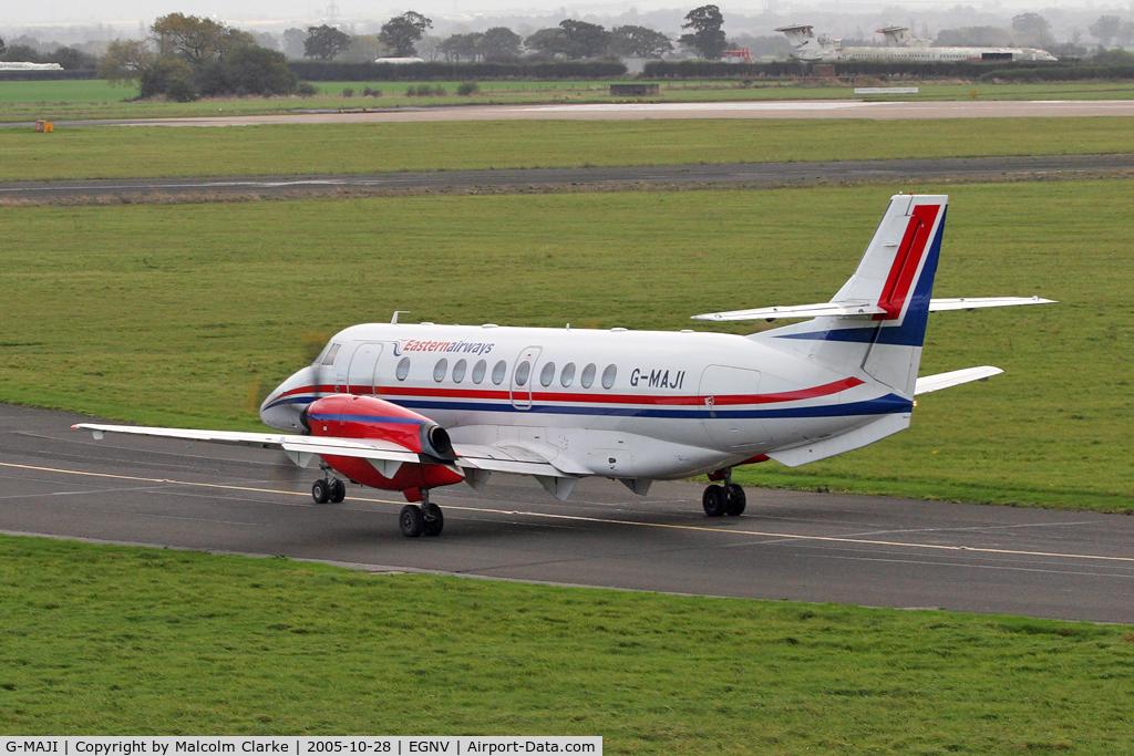 G-MAJI, 1993 British Aerospace Jetstream 41 C/N 41011, British Aerospace Jetstream 41, Durham Tees Valley Airport, October 2005.