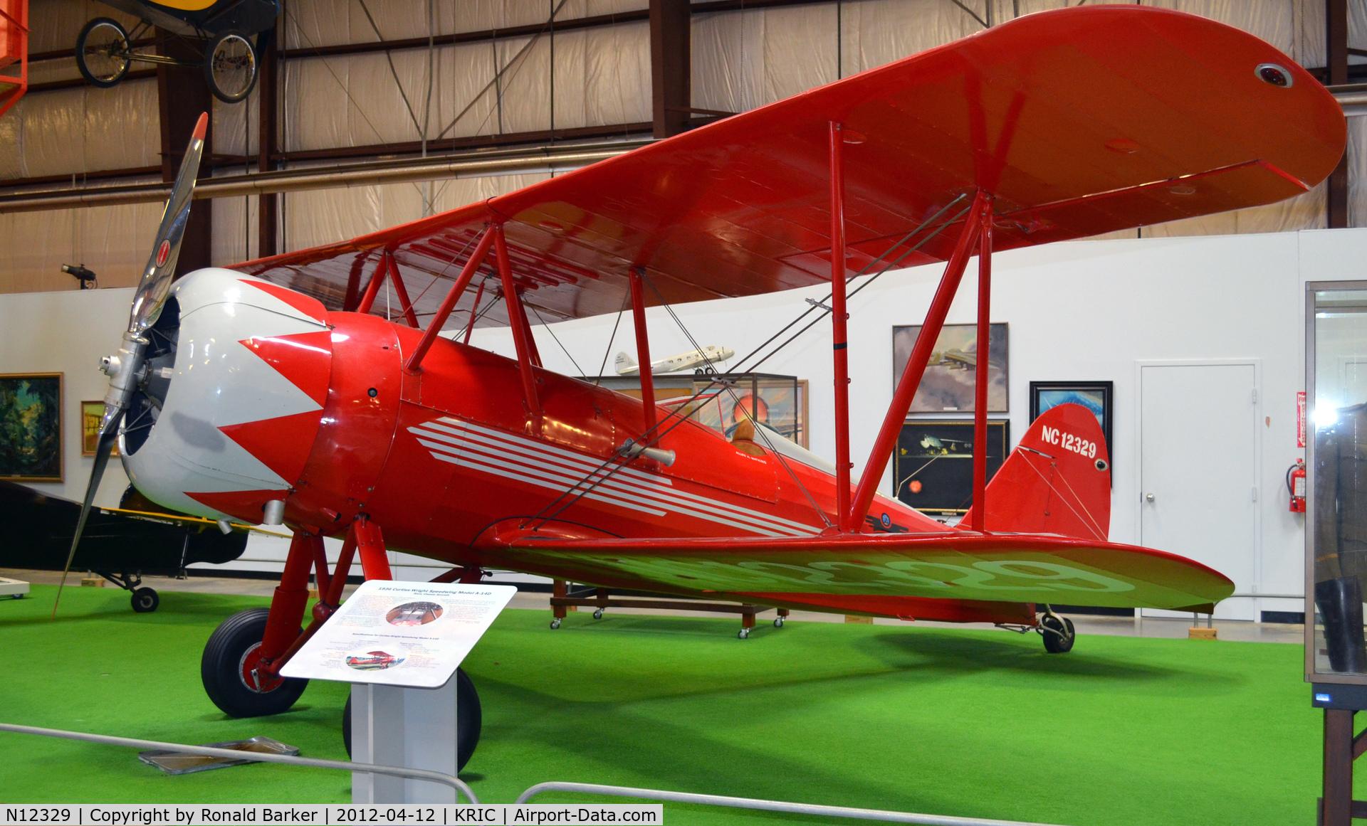 N12329, Curtiss-Wright Travel Air A-14-D C/N 2009, VA Aviation Museum