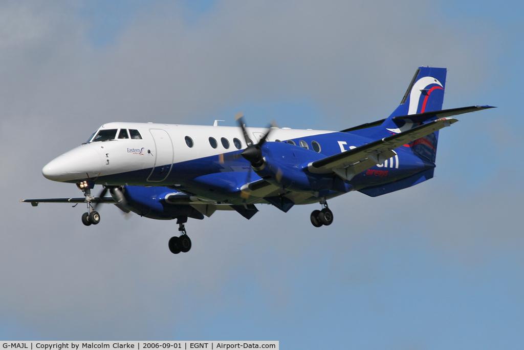 G-MAJL, 1996 British Aerospace Jetstream 41 C/N 41087, British Aerospace Jetstream 41, Newcastle Airport. September 2006.