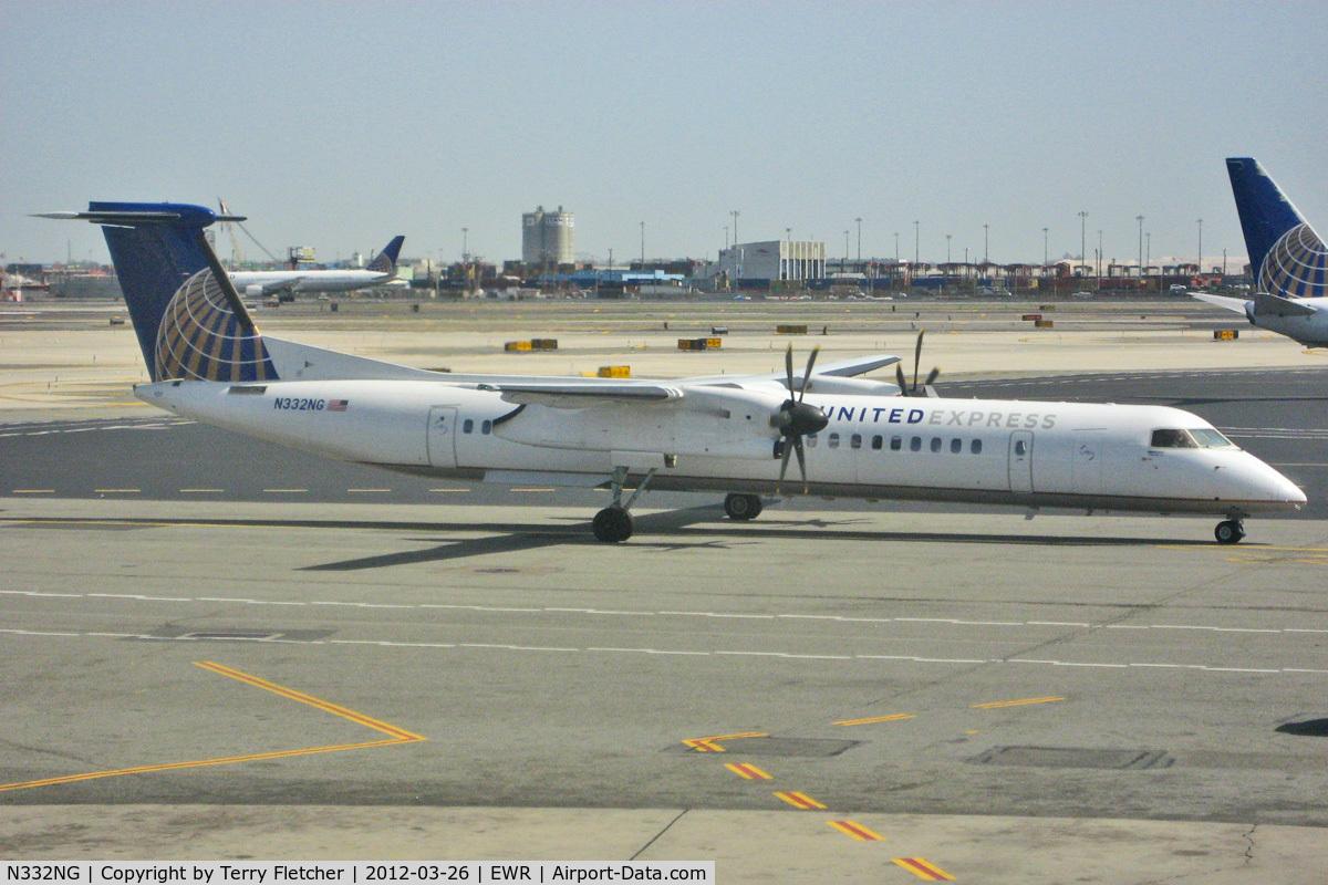N332NG, 2010 Bombardier DHC-8-402 Dash 8 C/N 4332, At New York Newark