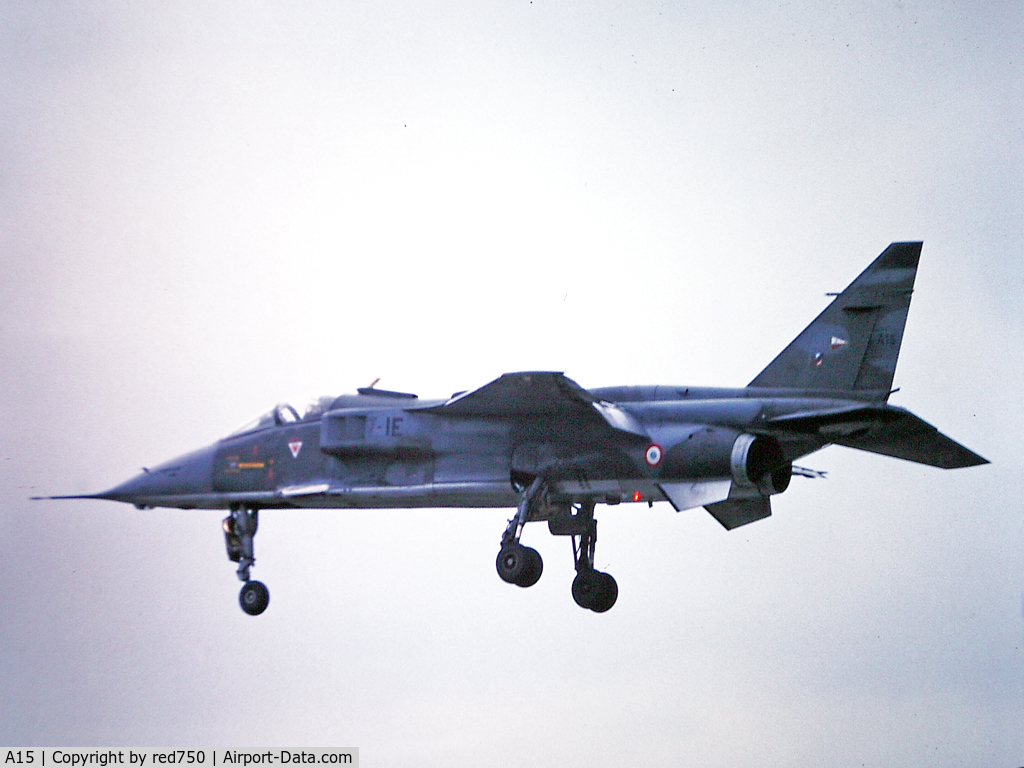 A15, Sepecat Jaguar A C/N A15, Photograph by Edwin van Opstal with permission. Scanned from a color slide.