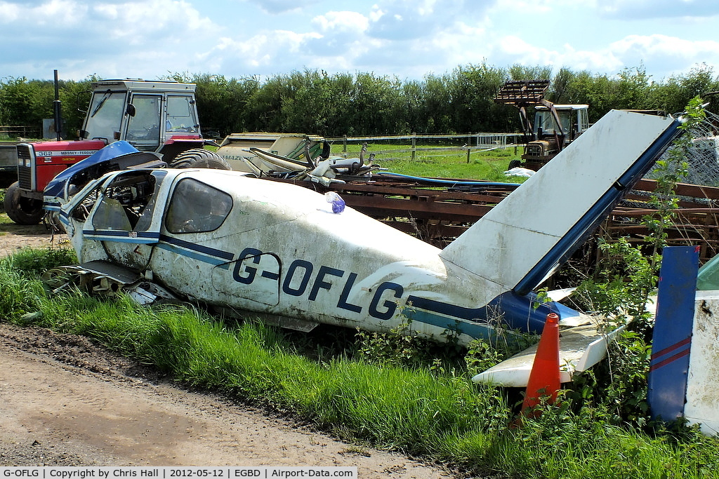 G-OFLG, 1979 Socata TB-10 Tobago C/N 11, one of the many wrecks and relics at Derby airfield