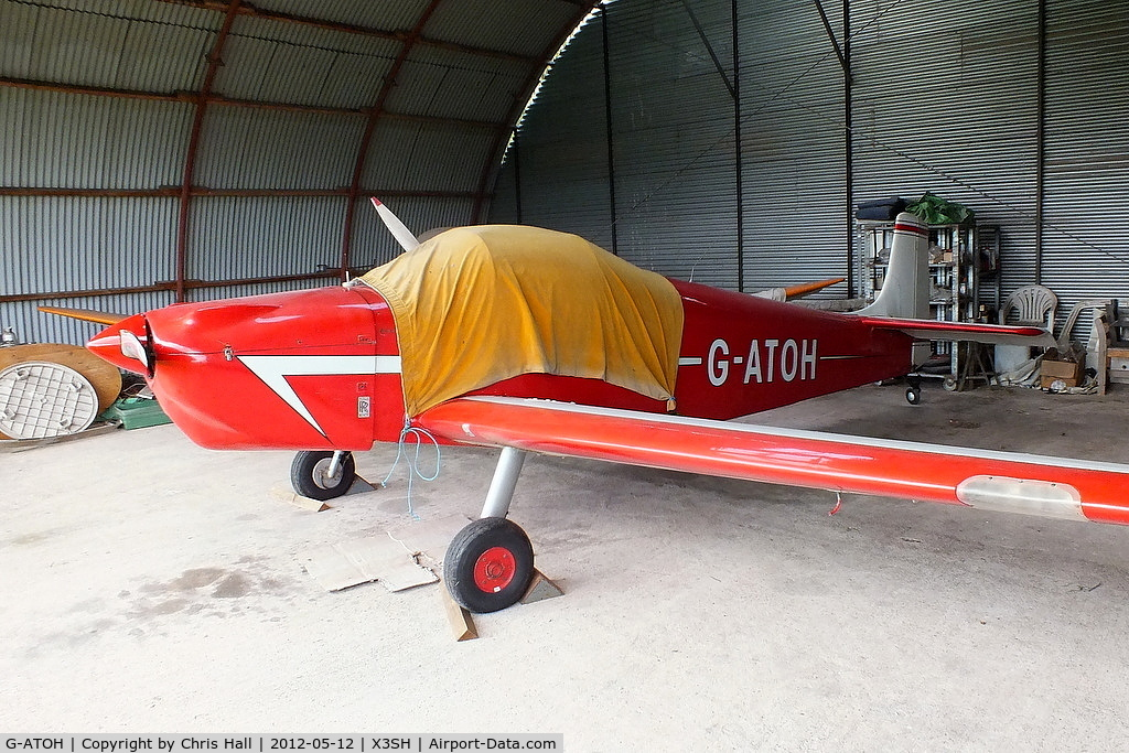 G-ATOH, 1966 Rollason Druine D-62B Condor C/N RAE/612, at Streethay Farm Airfield