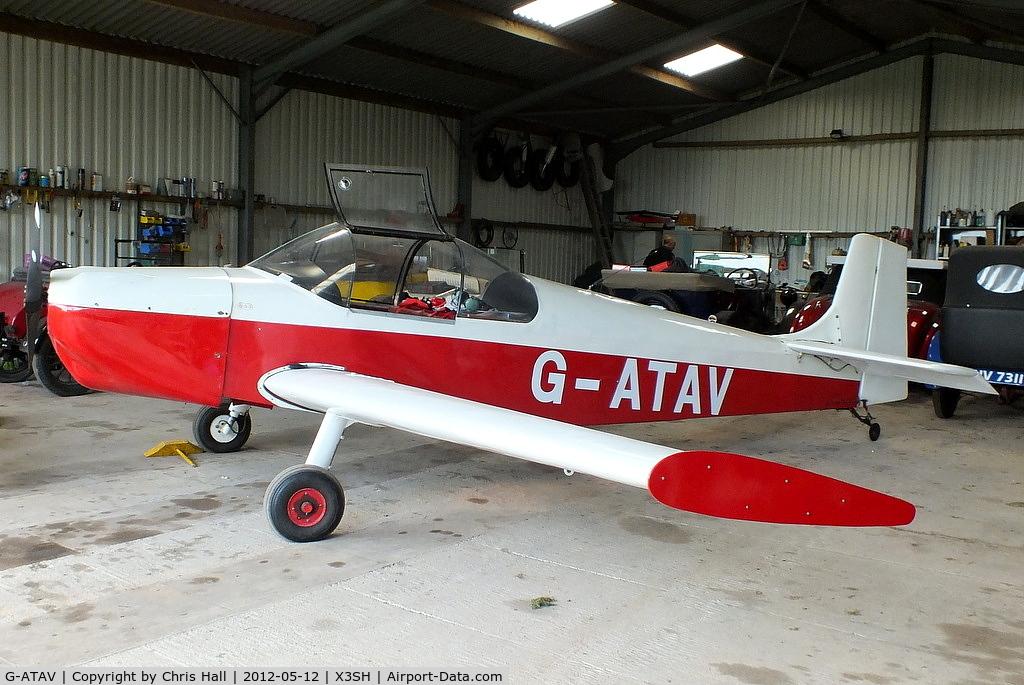 G-ATAV, 1965 Druine D.62C Condor C/N RAE/611, at Streethay Farm Airfield