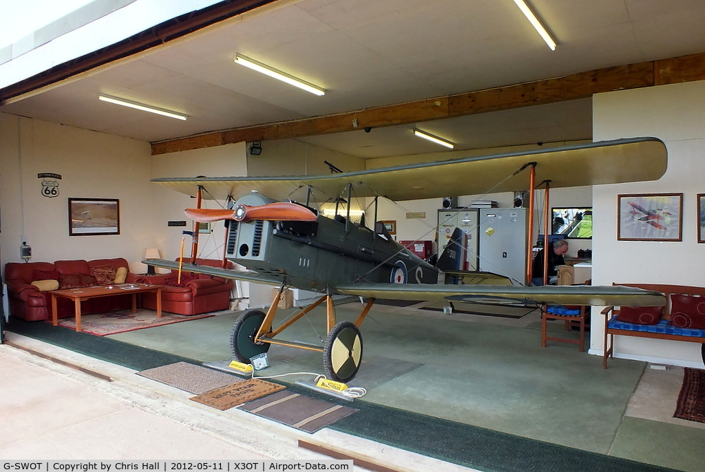 G-SWOT, 1990 Currie Super Wot (SE-5A Replica) C/N PFA 3011, at Otherton Microlight Airfield