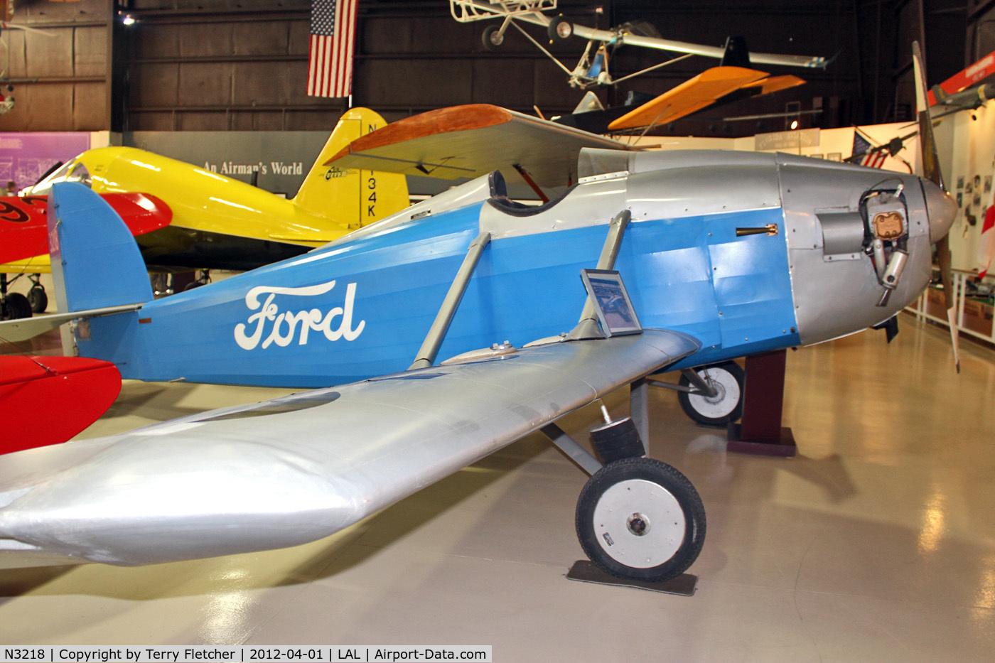 N3218, 1994 Ford Flivver Replica C/N FAHS-2, Displayed at Florida Air Museum