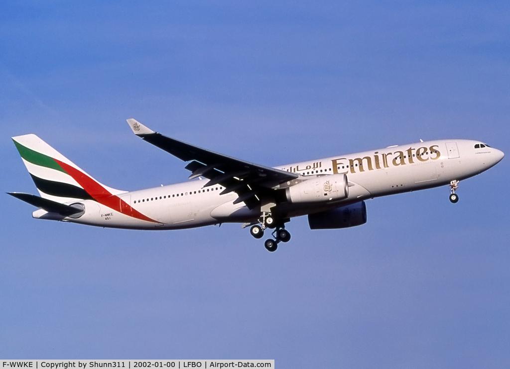 F-WWKE, 2002 Airbus A330-243 C/N 451, C/n 0451 - To be A6-EAJ
