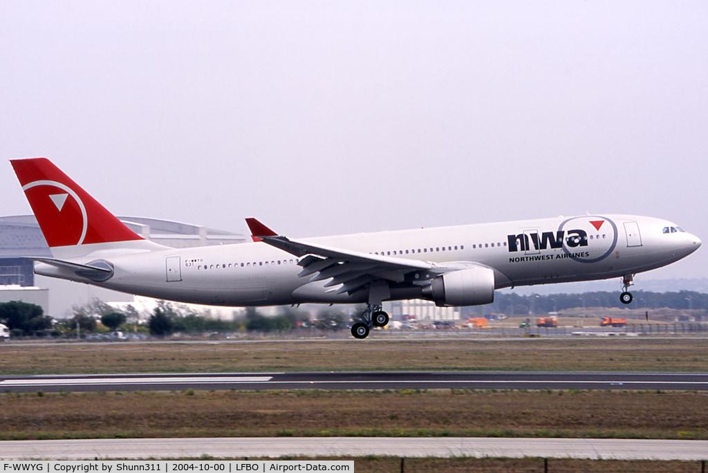 F-WWYG, 2004 Airbus A330-223 C/N 0631, C/n 0631 - To be N856NW