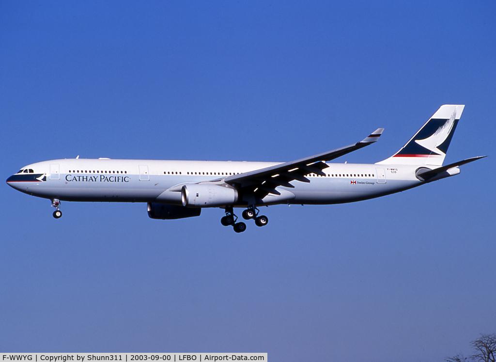 F-WWYG, 2003 Airbus A330-343 C/N 539, C/n 0539 - To be B-HLU