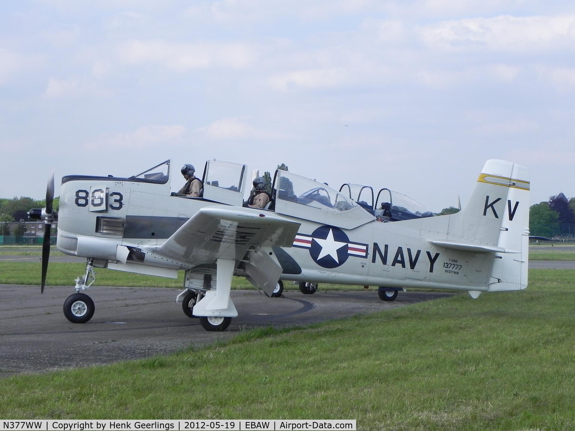 N377WW, 1954 North American T-28B Trojan C/N 200-140, Stampe Fly In 2012 , Deurne Airport