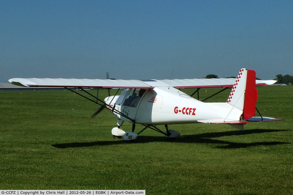 G-CCFZ, 2003 Comco Ikarus C42 FB UK C/N PFA 322-14040, at AeroExpo 2012