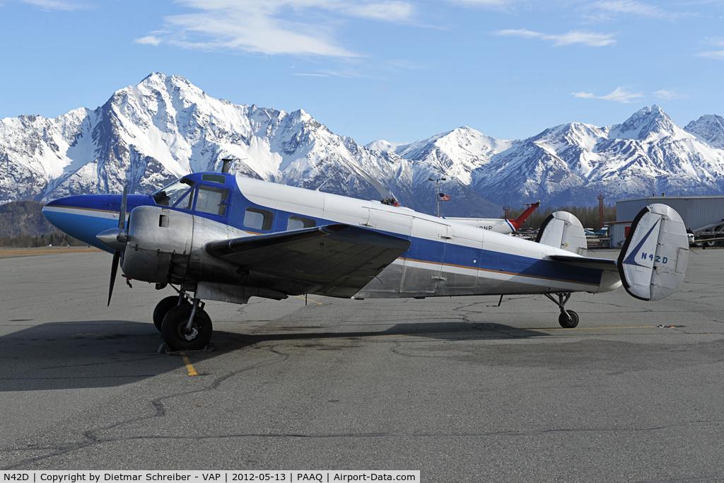 N42D, 1955 Beech E18S C/N BA-117, Beech 18
