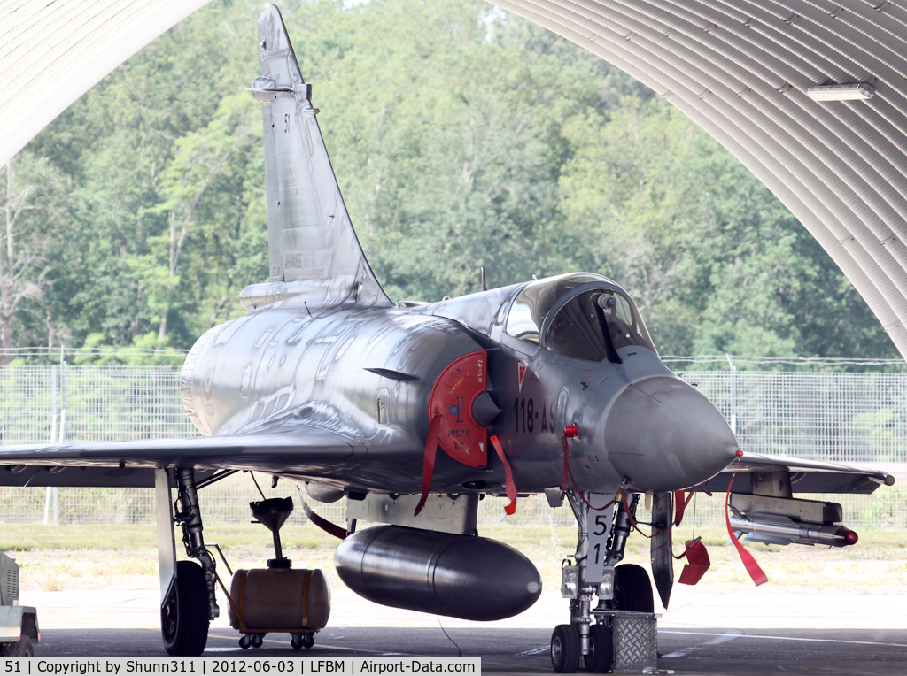 51, Dassault Mirage 2000-5F C/N Not found 51, Demo aircraft during LFBM Open Day 2012